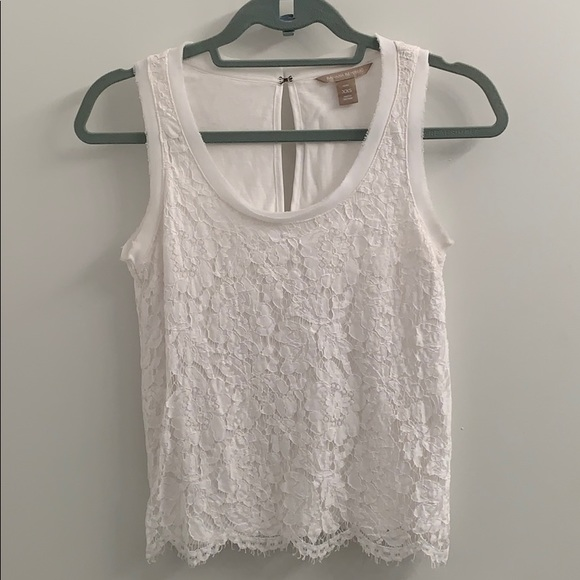 Banana Republic Tops - Perfect white lace blouse/tank - Banana Republic